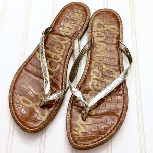 b325912bc1c620 Sam Edelman Shoes - Sam Edelman Gracie pewter snake print thong sandal